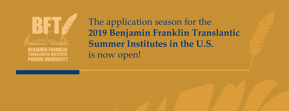 2019 Benjamin Franklin Transatlantic Summer Institutes